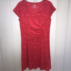 Kuhl red print knit dress